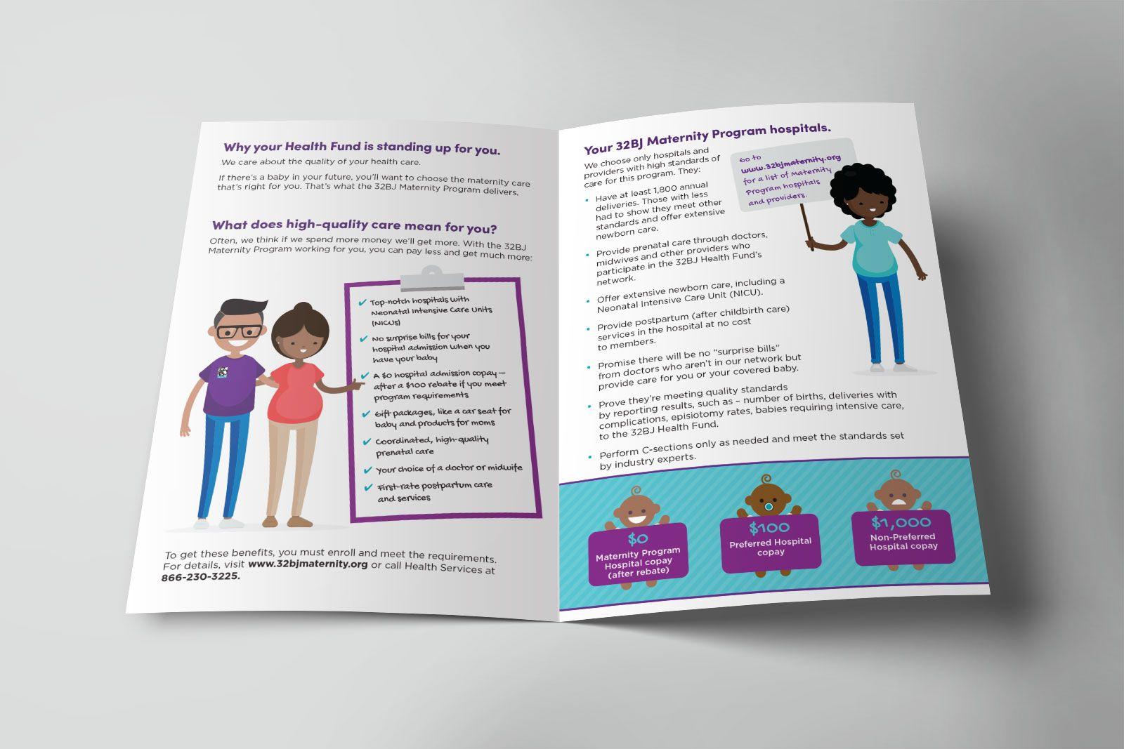 32BJ Health Maternity Program - Design by New Leaf Graphic Design