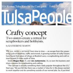 """""""Newlie"""" published in TulsaPeople Mag!"""