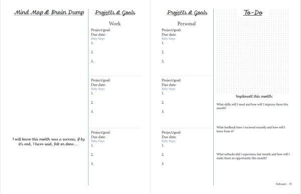printable planner monthly planning