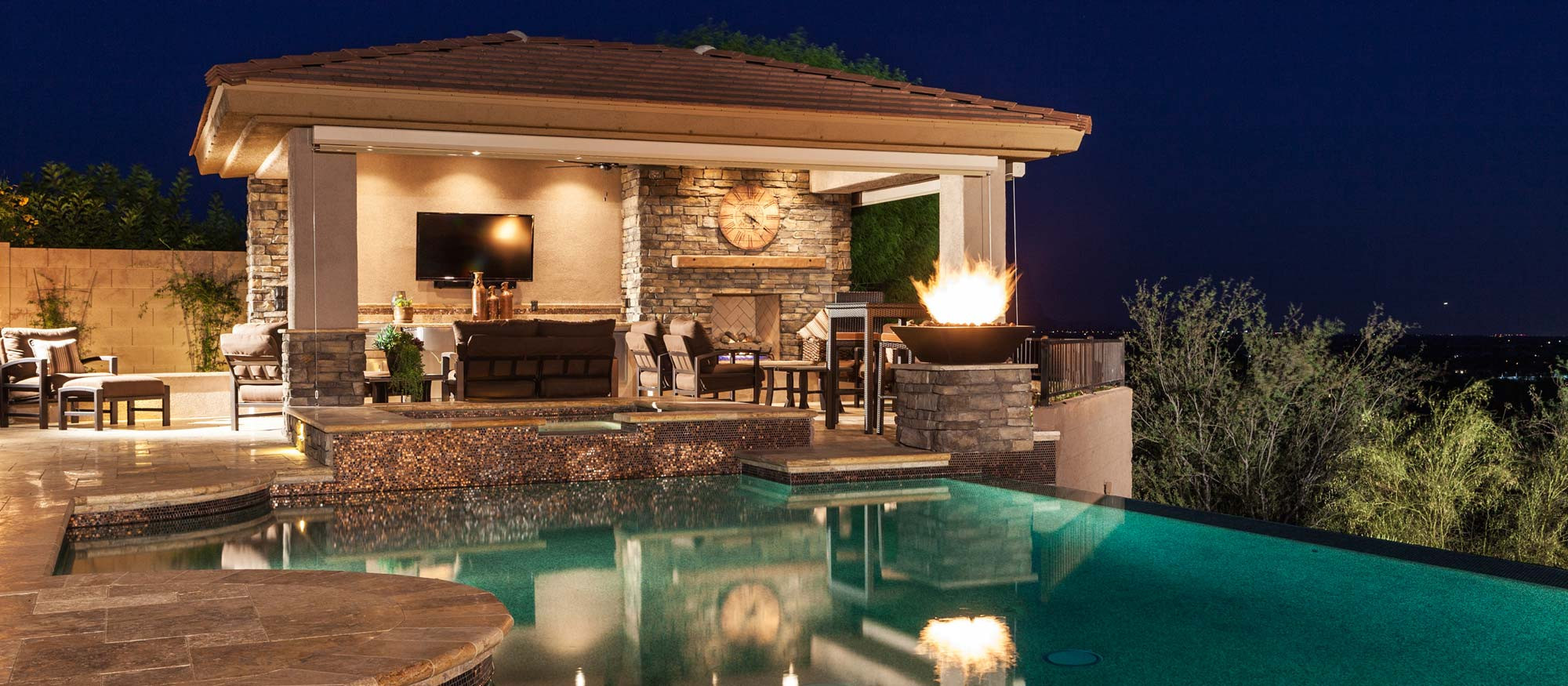 Custom Pool Installations | NLO Landscapes and Landscape ... on Outdoor Kitchen With Pool Ideas id=13921