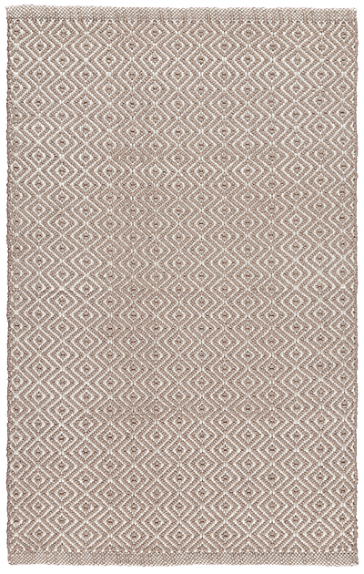 Newlife Rugs Diamond brown and white 100% recycled plastic rug