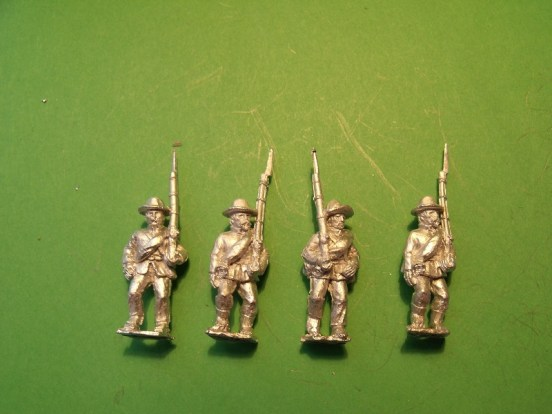 Infantry in Slouch Hat, Sack Coat & Blanket Roll, Marching