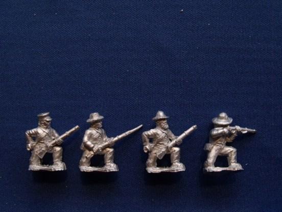 Infantry in Slouch Hat, Shell Jacket Kneeling