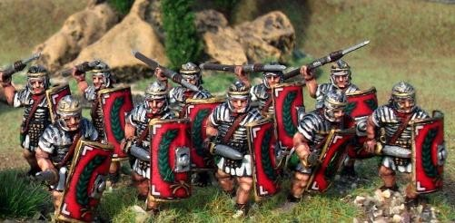 Legionaries in Segmented Armour, Advancing, Gladius