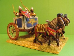 Assyrian 4 Horse Chariot and 4 Crew