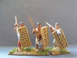 Tribal Spearmen with Large Wicker Shields