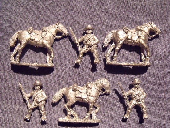Frontier light horse mounted