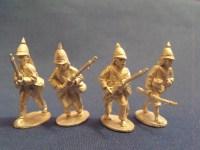Burmese Regulars w/ European Rifles Advancing (4)
