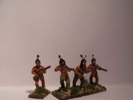 Sioux Warriors With Rifles