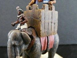 Macedonian Elephant with Driver, Tower and Crew