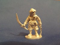 Barbary Pirate with Pistol and Scimitar in Turban