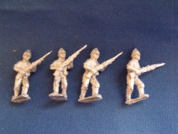 Infantry in Shirtsleeves and Pith Helmet Skirmishing
