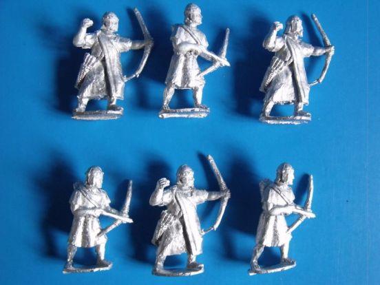 Archers in helmets