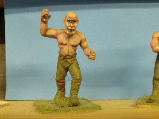 Mountain Cyclops - Advancing, Club Raised, Shaved Head I