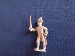 British Marine Officer, Round hat, Advancing