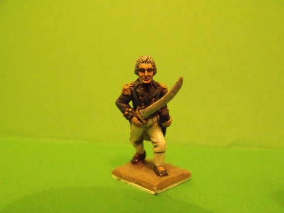 British Officer, Sword, Advancing, Bare head