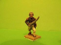 British Officer, Sword, Advancing, Bare head
