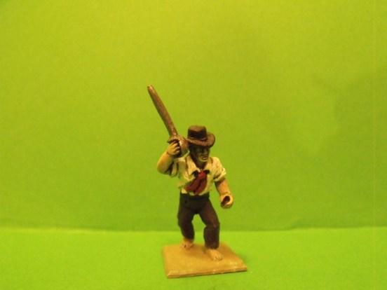 Boarder, Sword raised, Round hat, shirt