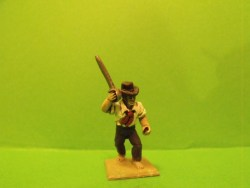 Boarder, Sword raised, Round hat, shirt