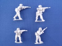 Congo Mercenary Infantry with Rifle Advancing & Firing