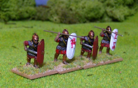 Veteran Spearmen in Mail Advancing