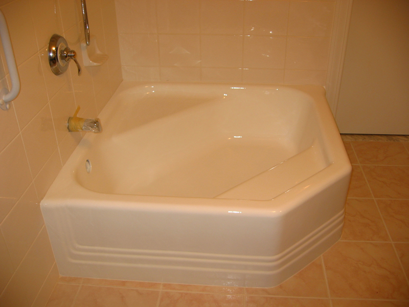 new-look-refinishing-blue-tub-after - New Look Refinishing