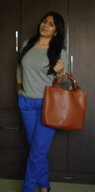 OOTD: Royal Blue Pleated Trousers/Friday Work Wear