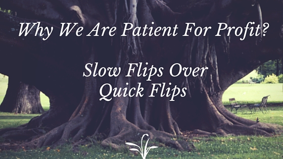 Why We Are Patient For Profit- Slow Flips