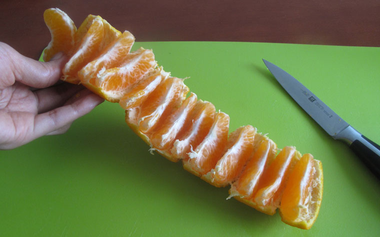 Easy Way To Peel Mandarin Oranges