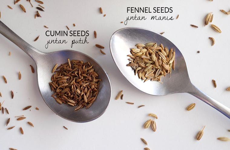 Fennel seeds (Jintan manis) & Cumin (Jintan putih)