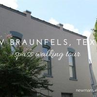 new braunfels, texas, spass walking tour, tourist
