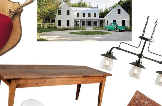 modern farmhouse, dining, rustic, chic