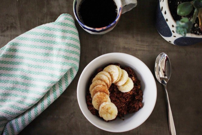 Dairy free recipe, chocolate oatmeal
