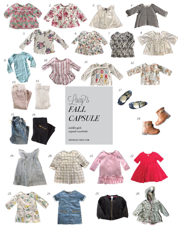 toddler girl capsule wardrobe, fall capsule wardrobe, simplifying with kids