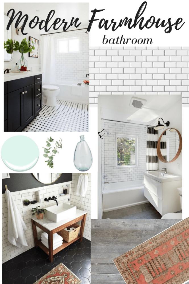 Dreaming of: Modern Farmhouse Bathroom Remodel - Newman's Nest on Farmhouse Modern Bathroom Ideas  id=75617
