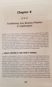 Gopher, Example book chapter