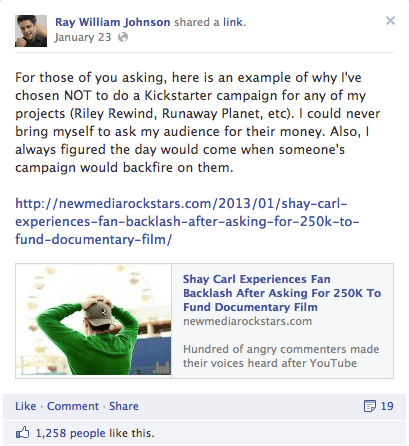 Screen shot 2013 02 01 at 12.03.35 PM Shay Carl Raises Over $200K As Im Vlogging Here Indiegogo Campaigns Ends