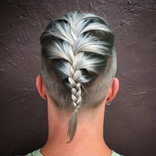 28. Disconnected Haircut with a French Braid