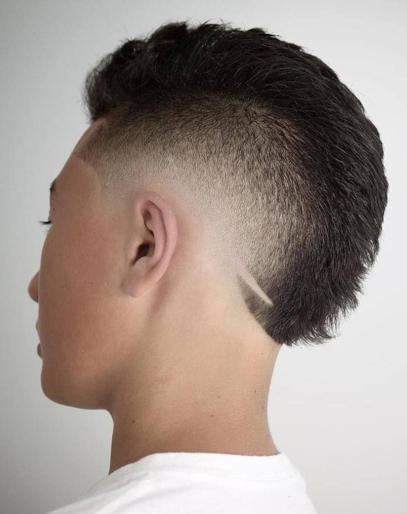 Mohawk with Taper Faded Sides