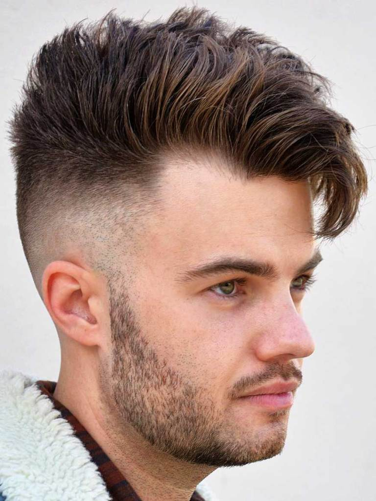 Side Swept Undercut with Fade-1