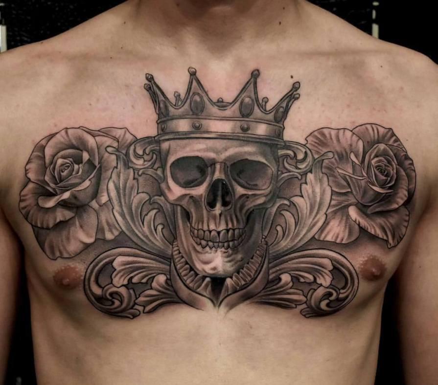 Chest Tattoos For Black Men-19