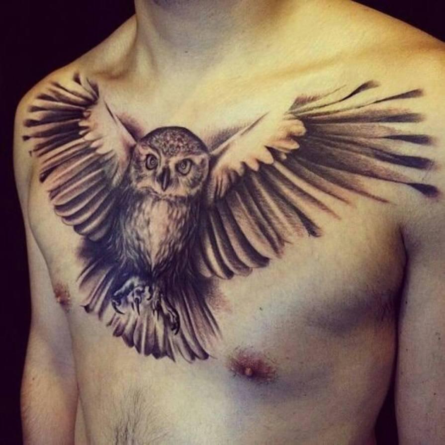 eagle tattoo on chest-21