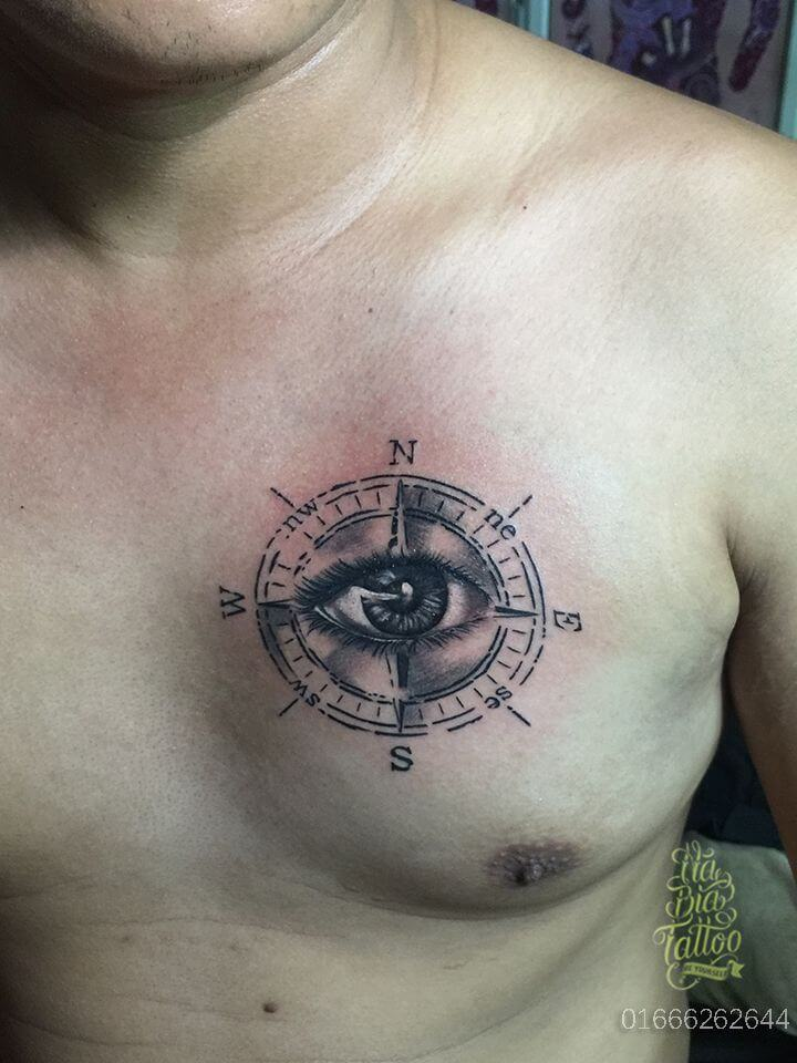 eye and compass tattoo-55