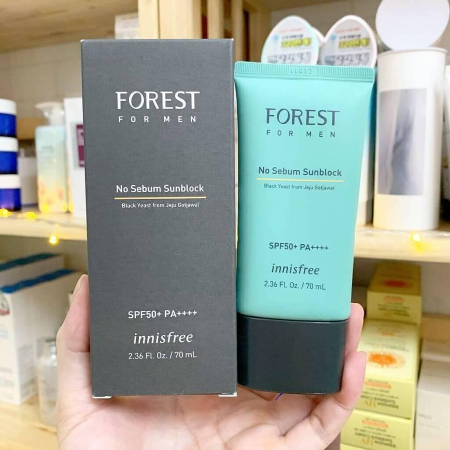 Forest For Men No Sebum Sunblock SPF 50+ PA+++, Innisfree