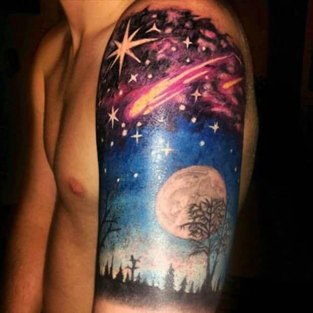 space tattoo designs
