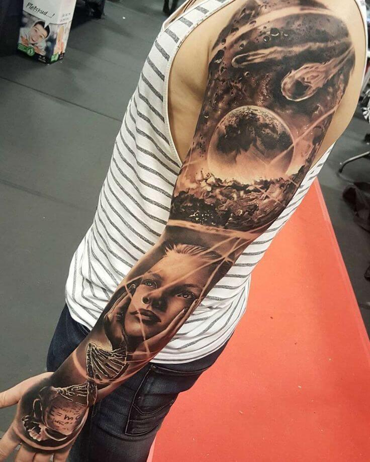 space tattoo sleeve ideas