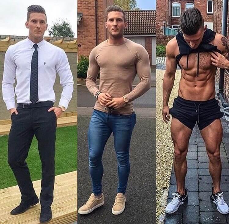 sneakers for muscular men