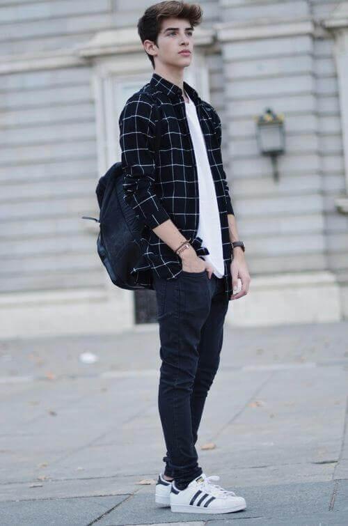 how to dress tall skinny man