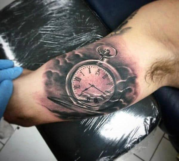 clock tattoos for men