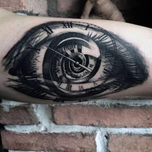 eye clock tattoo designs